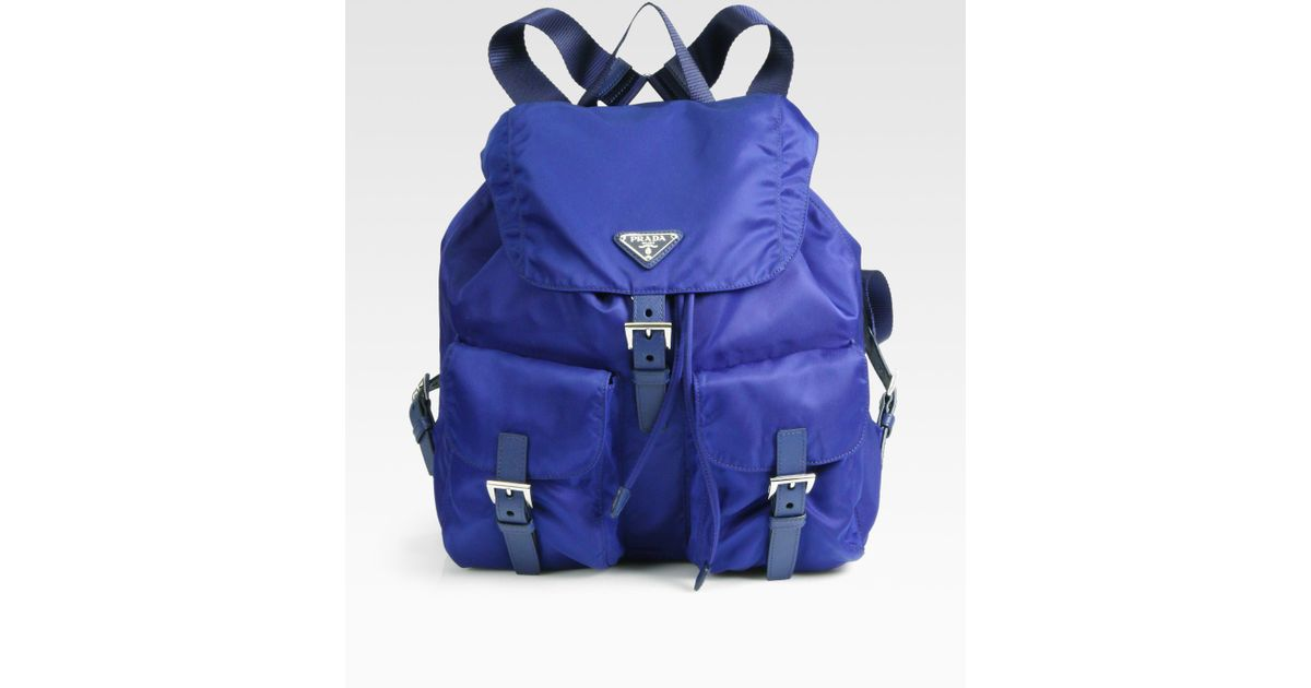 9546b3f3b60568 Prada Vela Backpack in Blue - Lyst