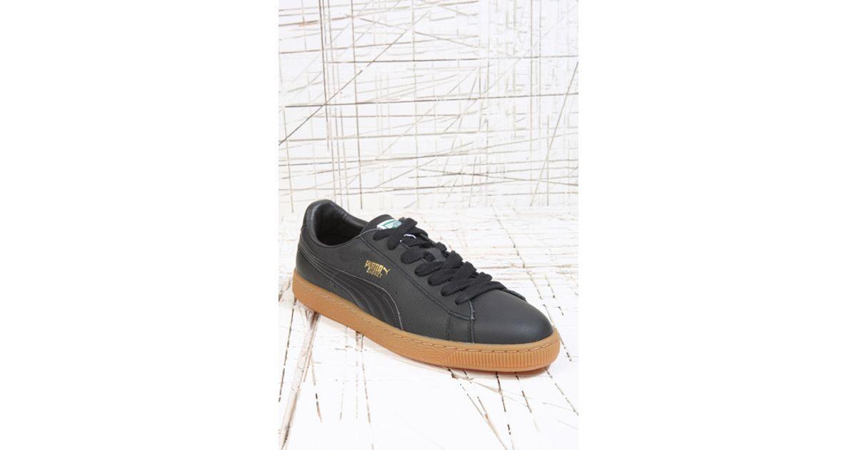 Black Sole Gum Trainers Puma For Basket Leather Men gb76Yfy