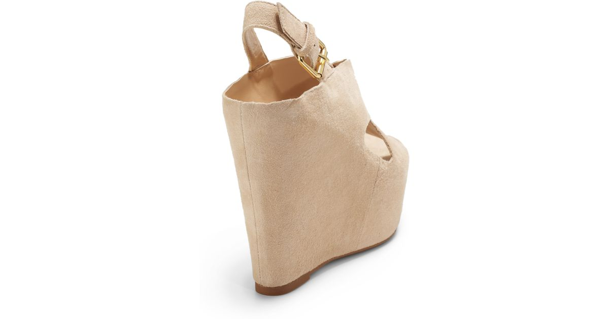 44291cb31dc Lyst - Dolce Vita Julie Suede Wedge Sandals in Natural