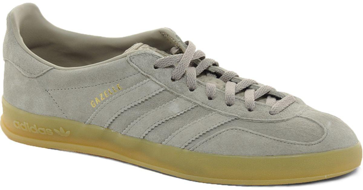 buy online 1cd46 e36ce ... coupon lyst adidas originals gazelle indoor sneakers in gray for men  fa071 38d15