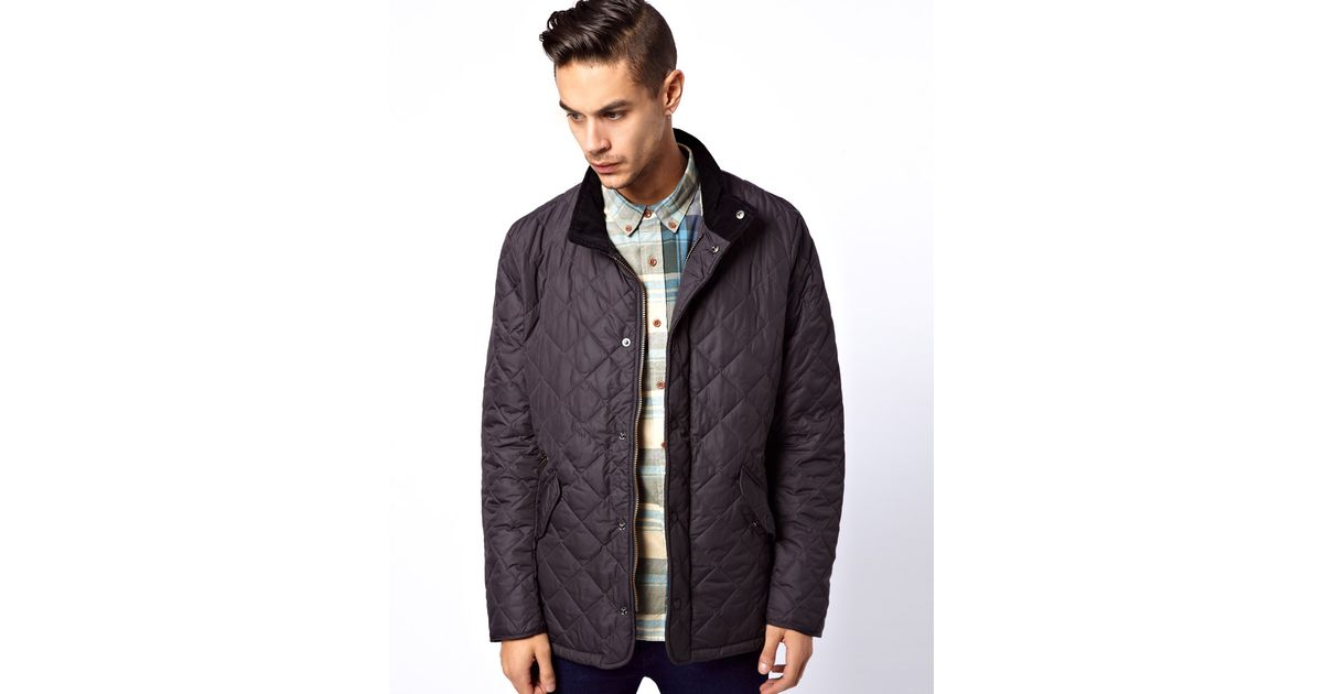 Lyst Barbour Barbour Chelsea Sports Quilt Jacket In Gray For Men