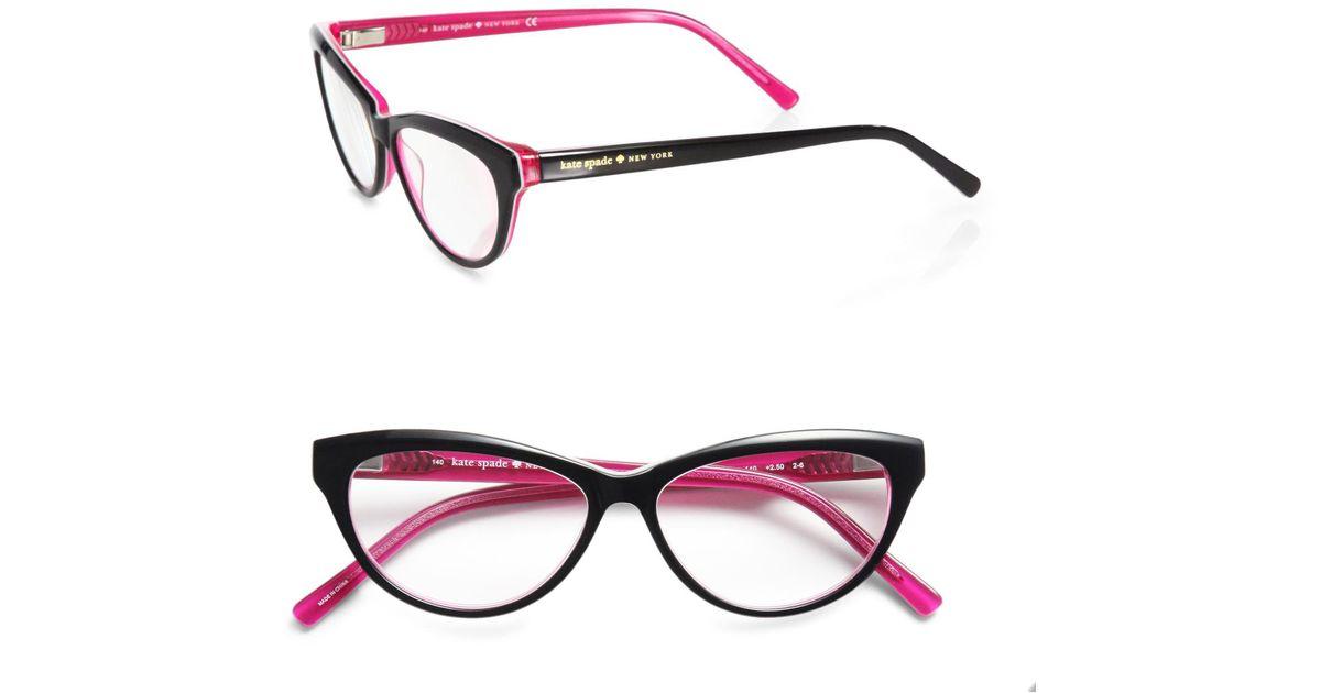 44170ba7486 Lyst - Kate Spade Abena Catseye Reading Glasses in Black