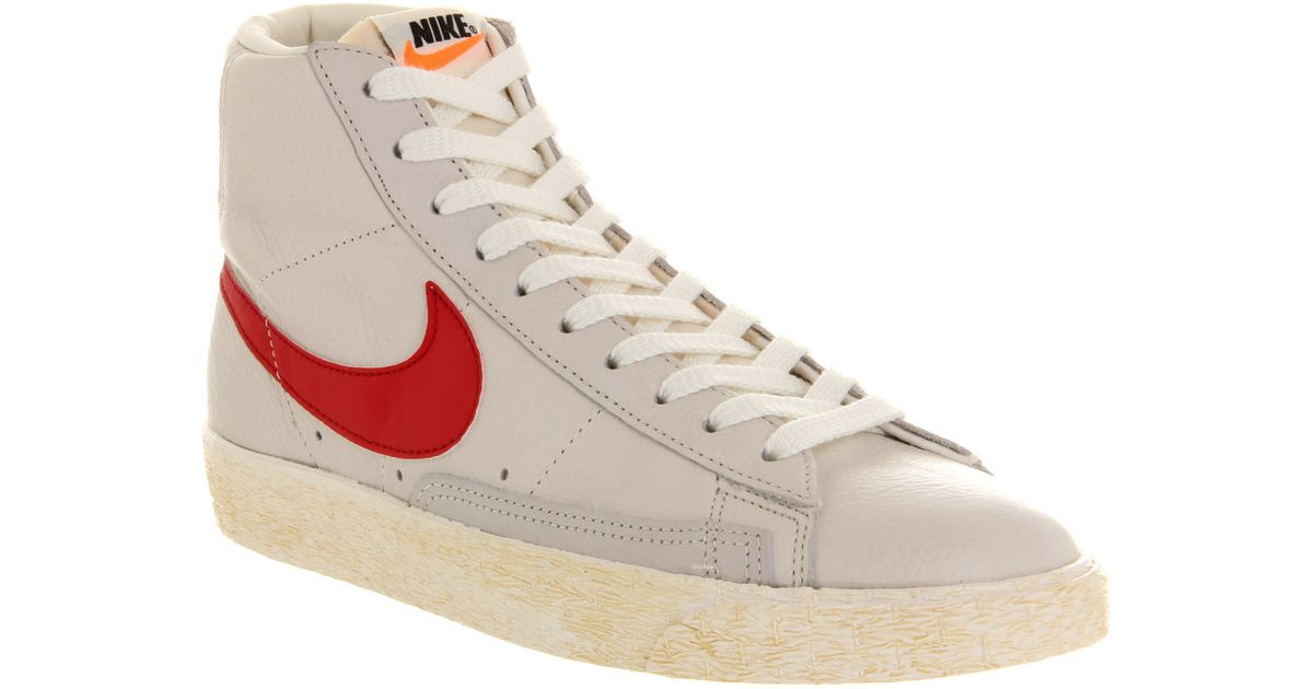 info for 3baa9 0d8ce Lyst - Nike Blazer Mid Vintage Leather Sail Red in White for