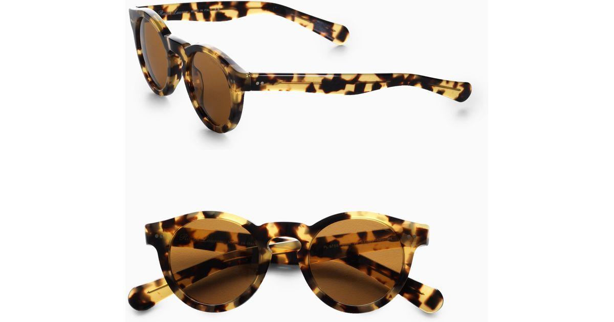 Lyst - Polo Ralph Lauren Round Sunglasses in Brown for Men