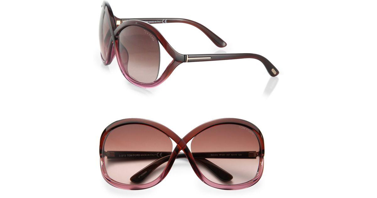 f30edbc65d2 Lyst - Tom Ford Sandra 62mm Crossover Square Sunglasses in Brown
