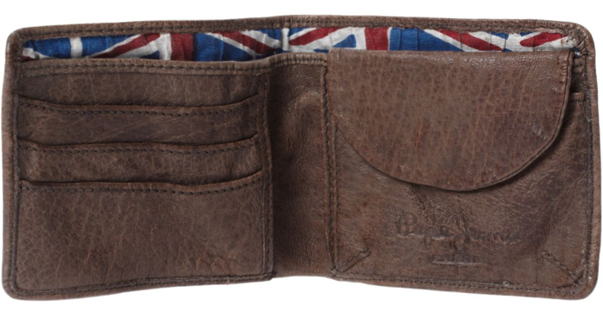 Pepe Jeans Pepe Wallet New Barry In Brown For Men Lyst