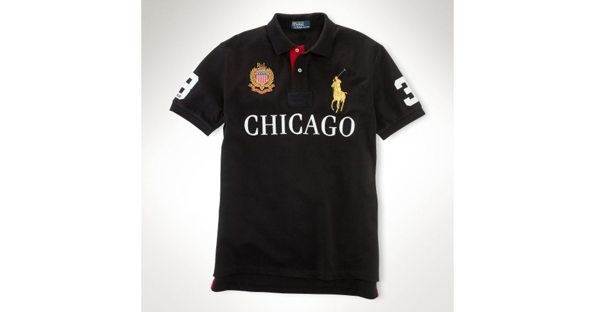 Polo ralph lauren Classic Fit Big Pony City Polo in Black for Men | Lyst