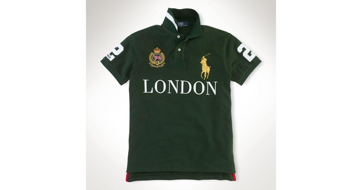 019d9813 ... sale lyst polo ralph lauren custom fit big pony city polo in black for  men 4dba5