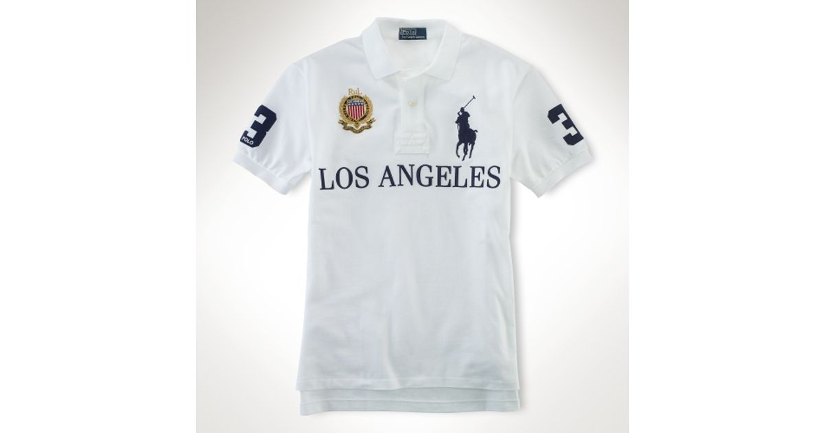 25905243 ... los angeles d2f43 222fb canada lyst polo ralph lauren customfit big  pony city polo in white for men 6df44 24247 ...
