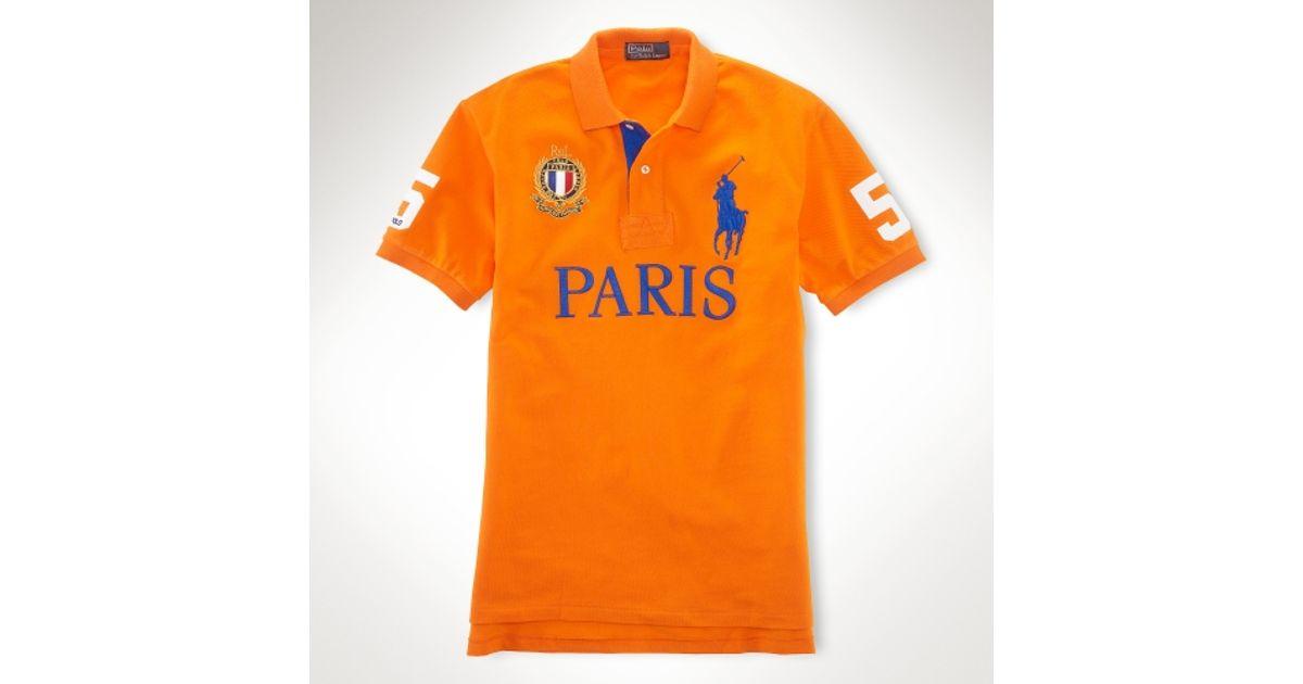 Pony Ralph Men Lauren Polo Custom Orange For Fit City Big 34jARq5L
