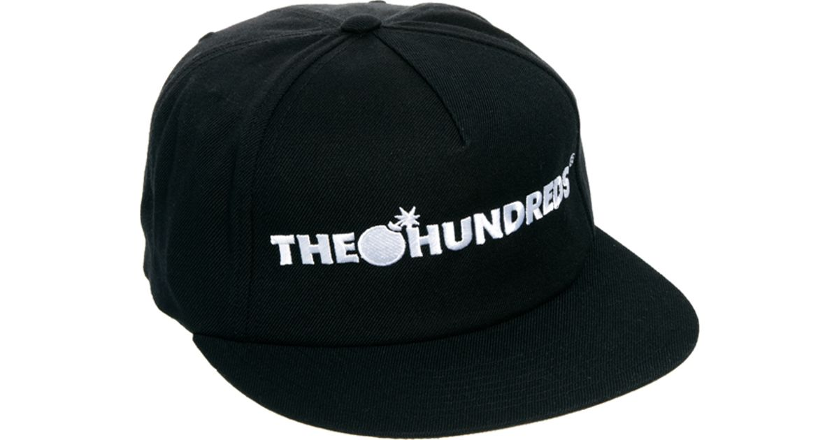 1d3aac057ea Lyst - The Hundreds Snapback Cap in Black for Men