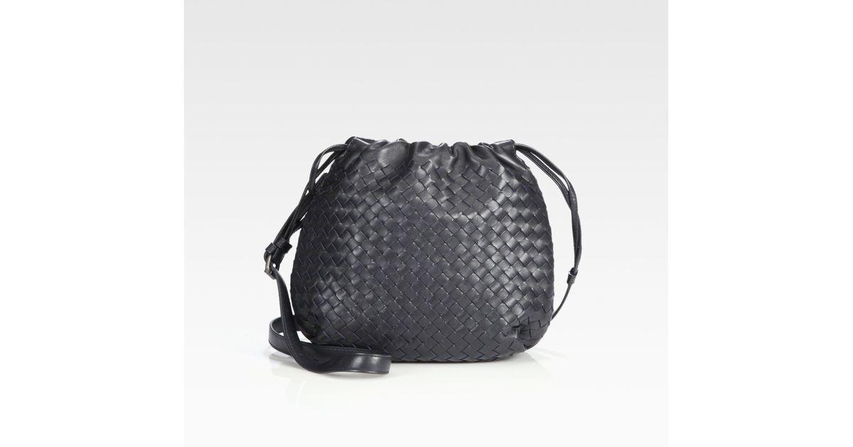 Lyst - Bottega Veneta Drawstring Messenger Bag in Blue c916afc1f6