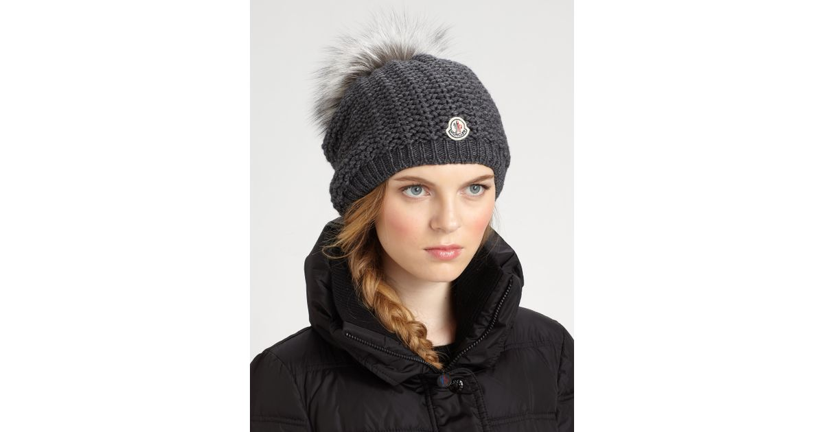 Lyst - Moncler Slouchy Hat in Gray c46f133b632