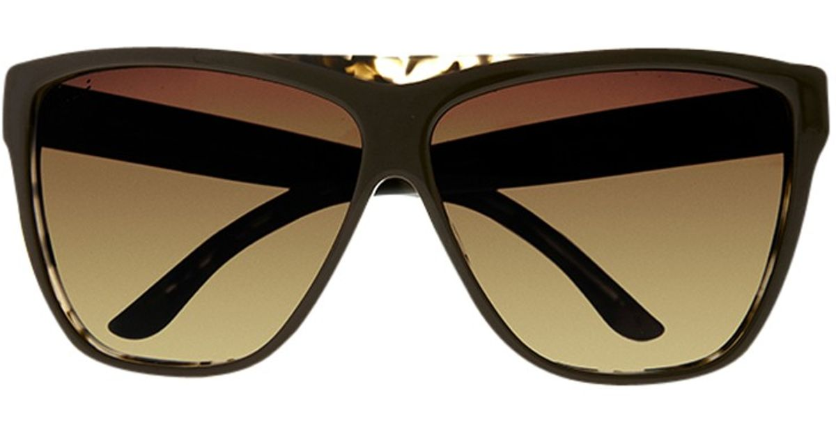 222a1d1704 Gucci D Frame Sunglasses in Brown - Lyst