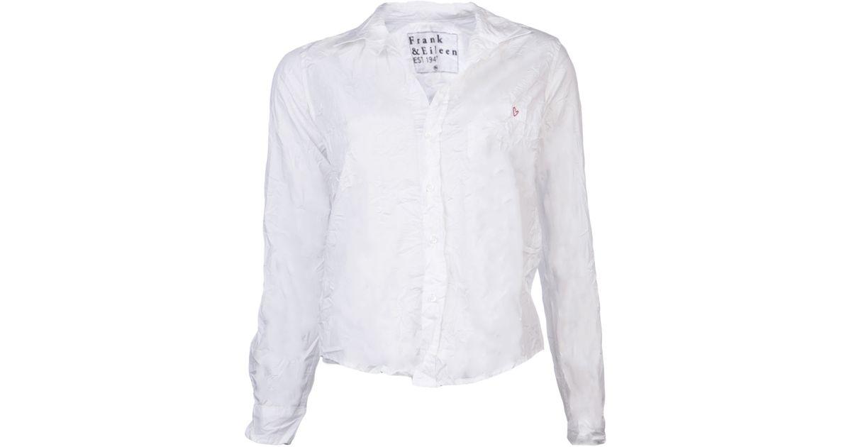 84b34f5ab4 Lyst - Frank   Eileen Crinkled Barry Shirt in White