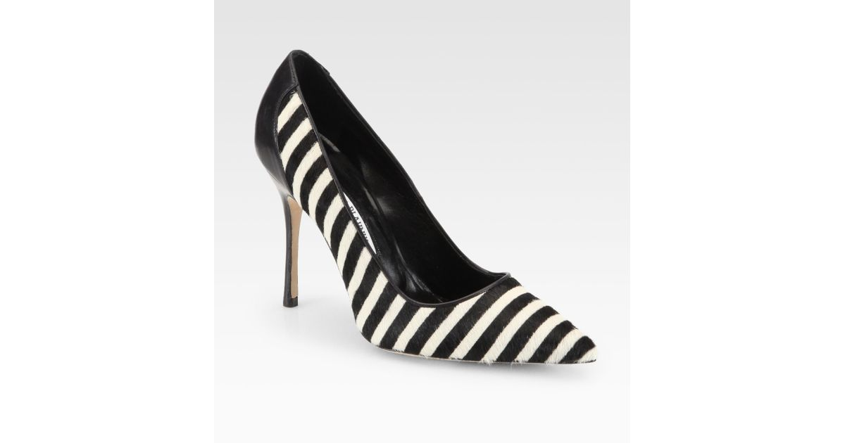 Manolo Blahnik Ponyhair Mary Jane Pumps buy cheap 2015 new with credit card for sale affordable online discount for nice 1gcXp1CNCd