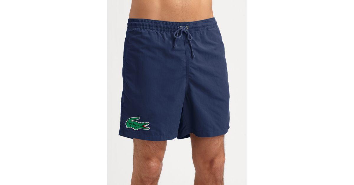 006b65d13b3ba Lyst - Lacoste Classic Swim Trunks in Blue for Men