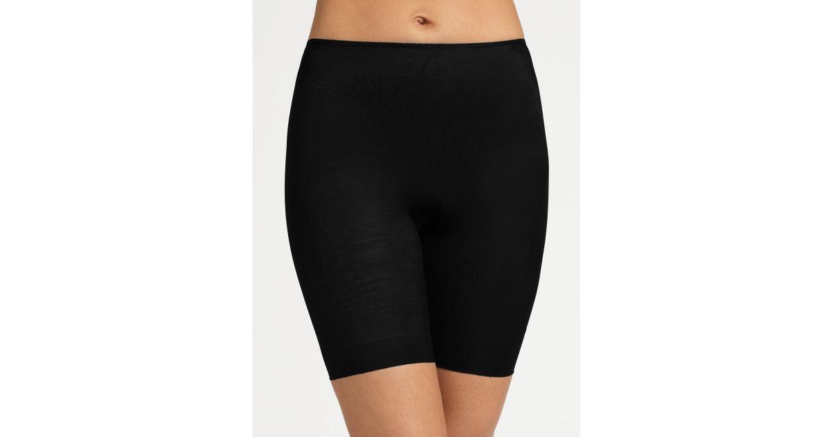 dc06978f8a Lyst - Spanx Skinny Britches Short in Black