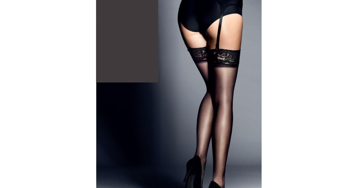 1818252c750 John Lewis 15 Denier Gloss Stockings in Black - Lyst