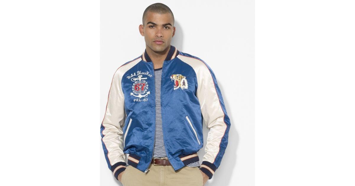 4b0e6f14e0 Polo Ralph Lauren Blue Souvenir Baseball Jacket for men