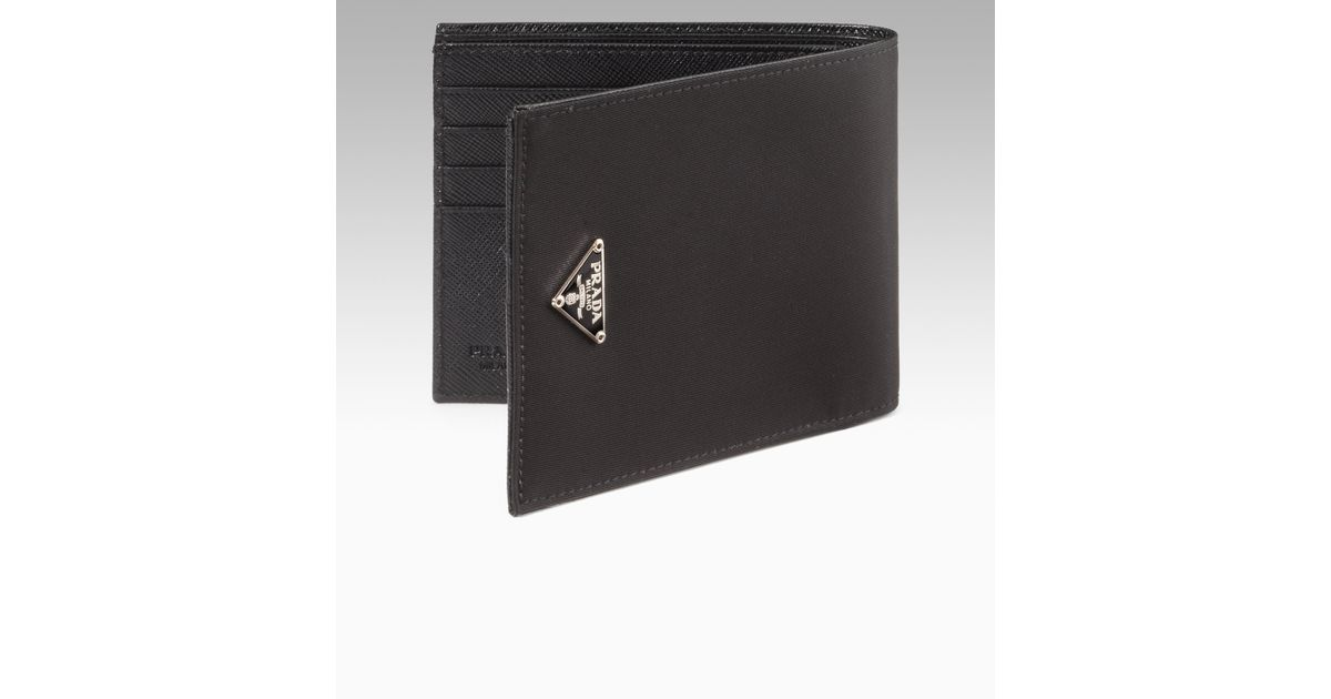 10cd9851dbbc Prada Nylon Billfold Wallet in Black for Men - Lyst