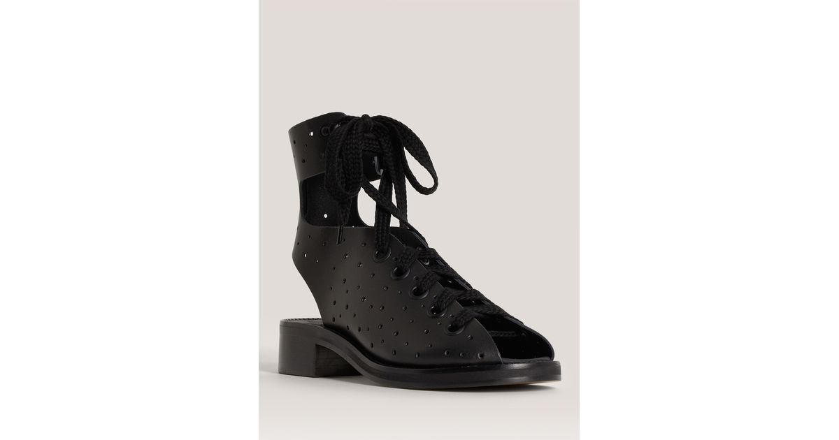 8783889f156b Lyst - Acne Studios Swann Foro Lace-up Sandals in Black