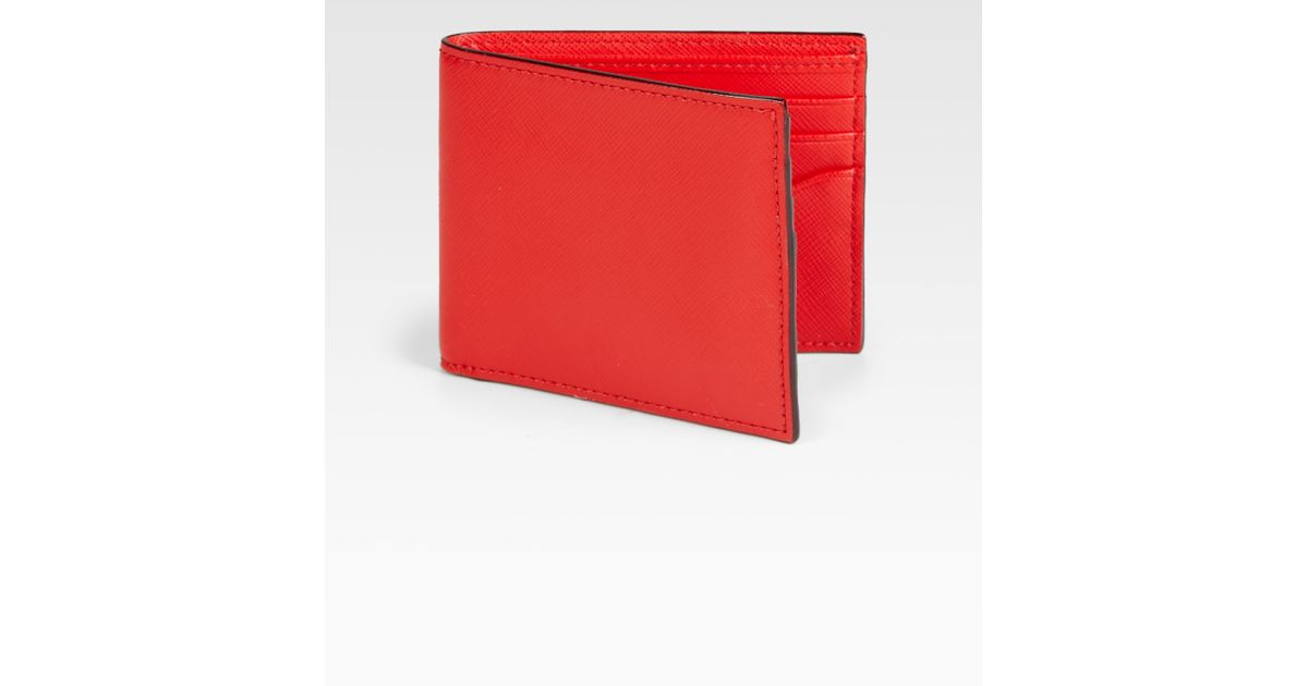 2e62c7a1e0313 Lyst - Jack Spade Wesson Leather Bill Holder in Red for Men