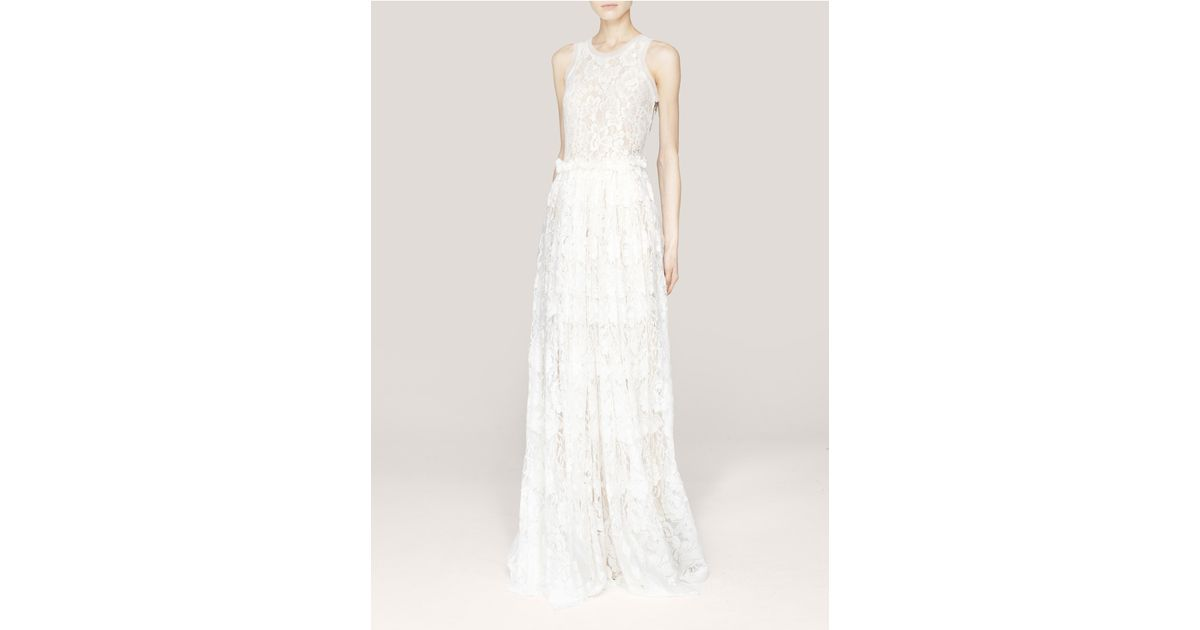 Lyst - Lanvin Lace Wedding Gown in White