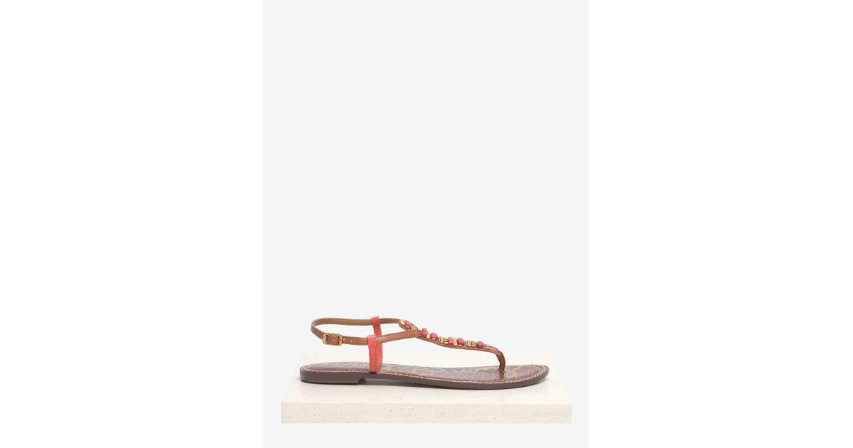 0df69450e3a0 Lyst - Sam Edelman Gale Beaded Leather Sandals in Orange