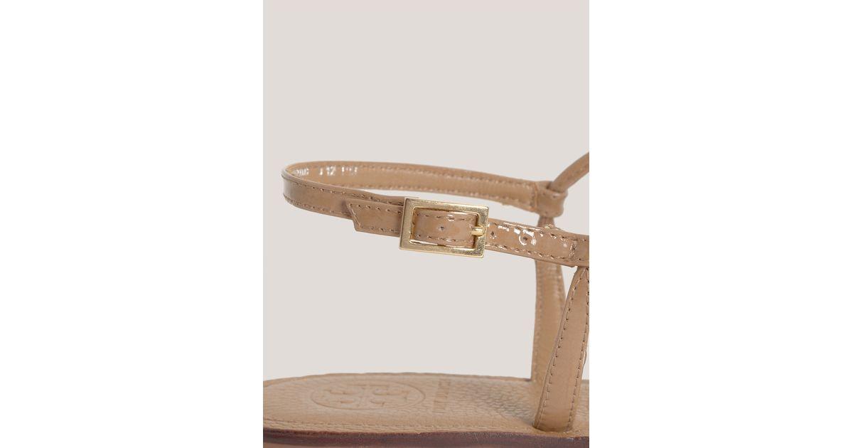 69198a1bdb01 Lyst - Tory Burch Shelby Floral Flat Sandals