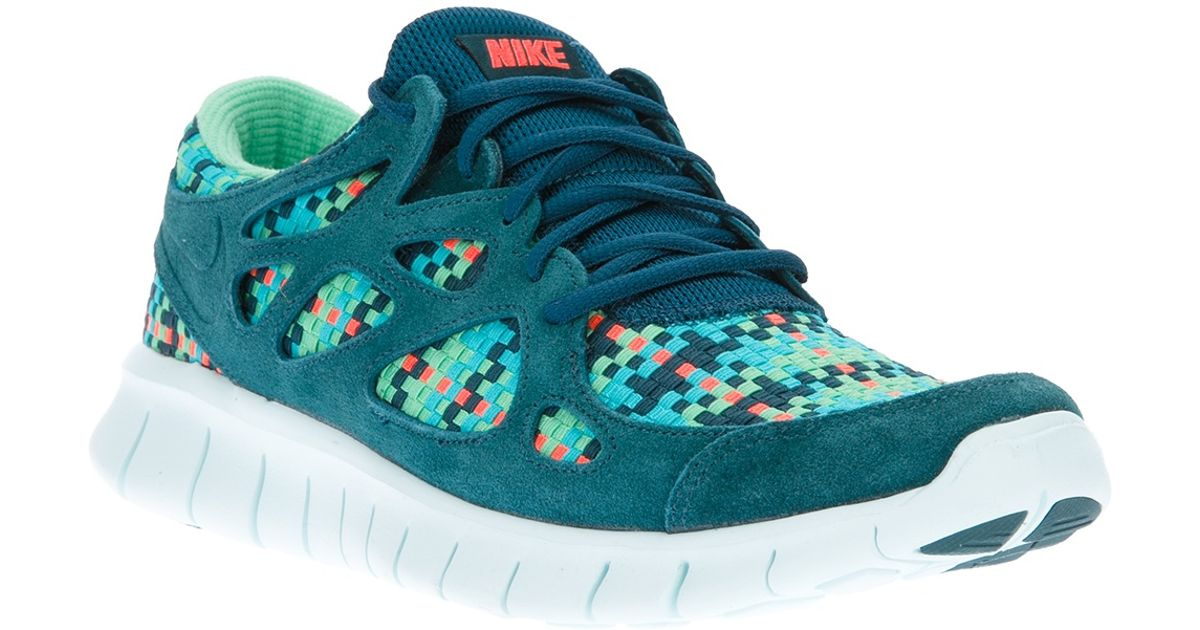 huge discount c3f31 6a405 Nike Green Free Run 2 Woven Trainer for men