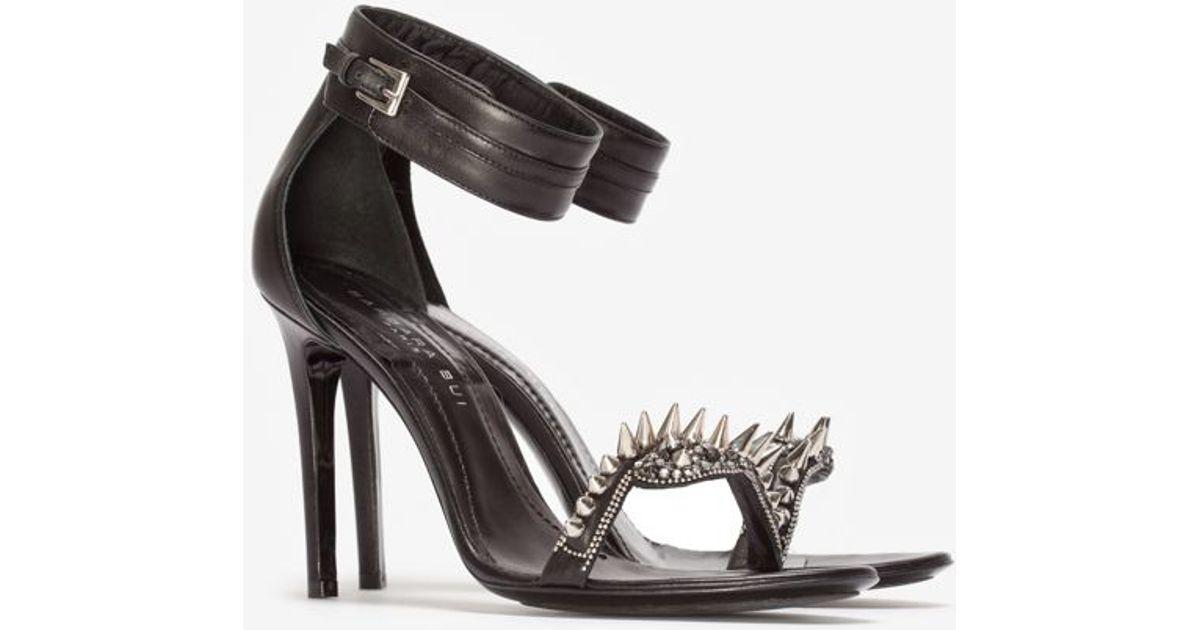 Metal Barbara Bui Black Sandal High Heel Spike m8N0wnv