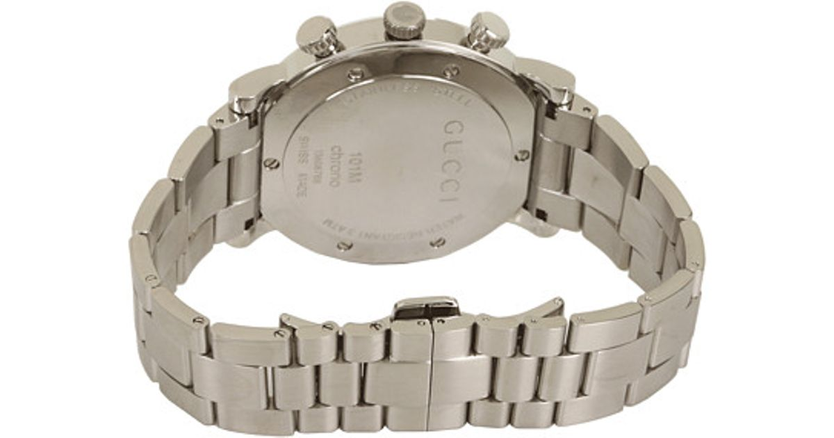 7e9be35385c Lyst - Gucci G Chrono 44mm Chronograph Stainless Steel Watch-ya101309 in  Gray for Men