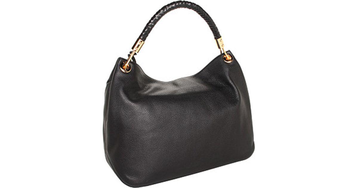 b6215f56a464 Lyst - Michael Kors Skorpios Large Shoulder Bag in Black