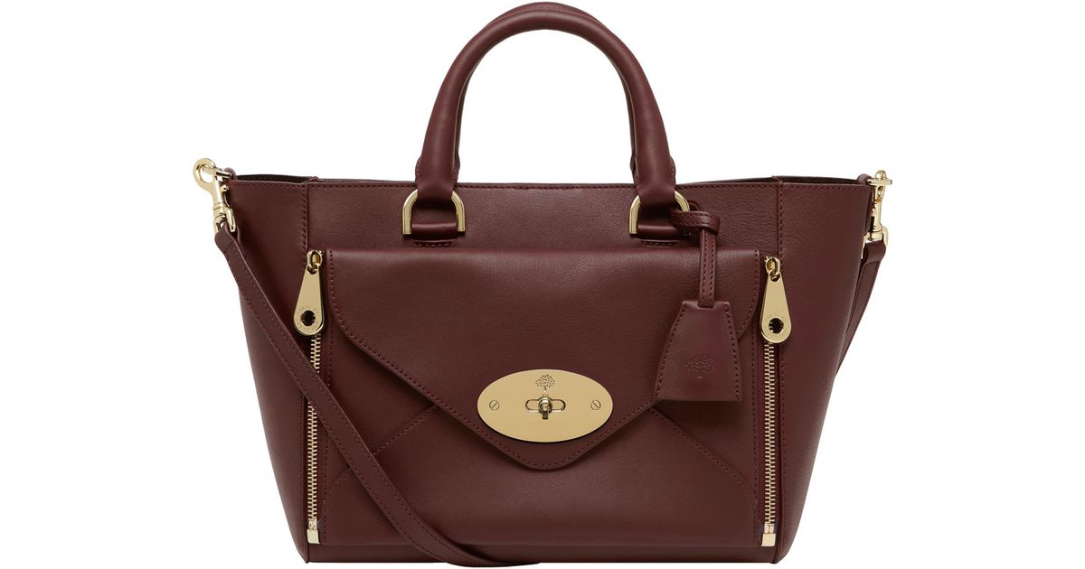 Lyst - Mulberry Small Willow Tote in Purple 2128286decb47