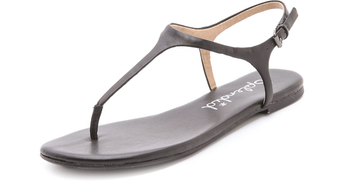 Splendid Mason T Strap Sandals In Brown Lyst