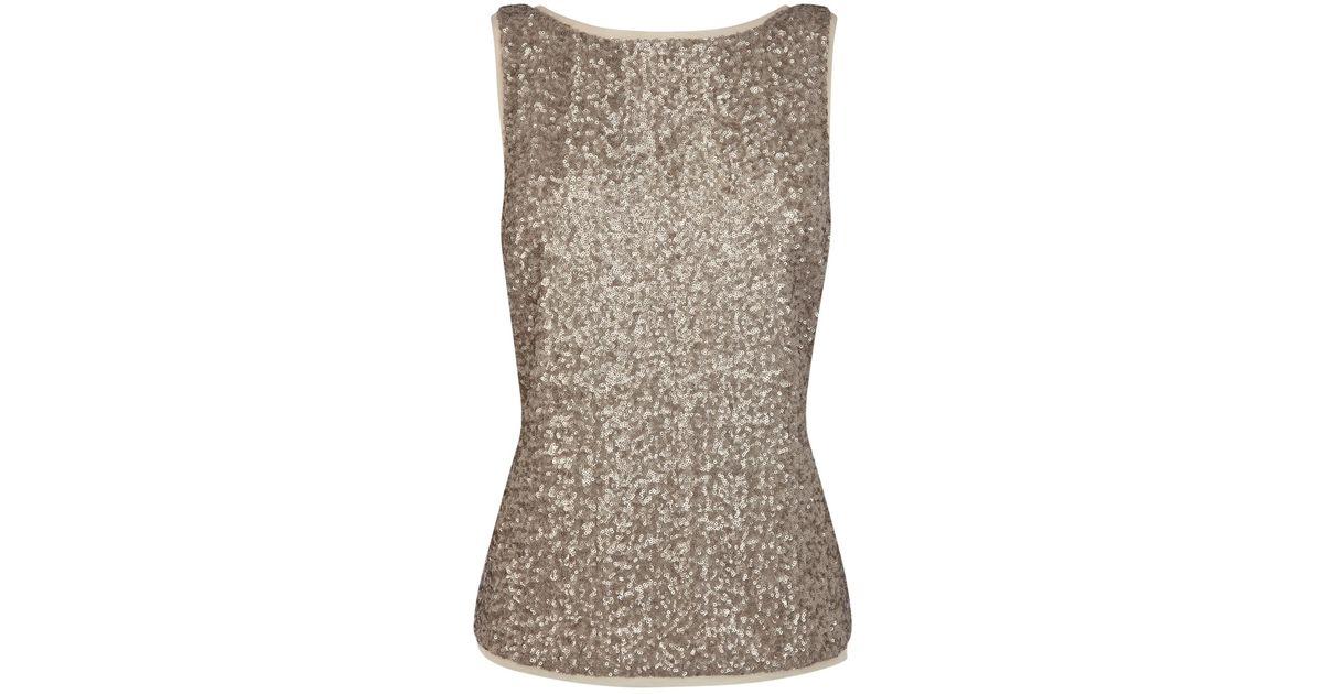 29879932258e61 Coast Odella Sequin Top in Metallic - Lyst