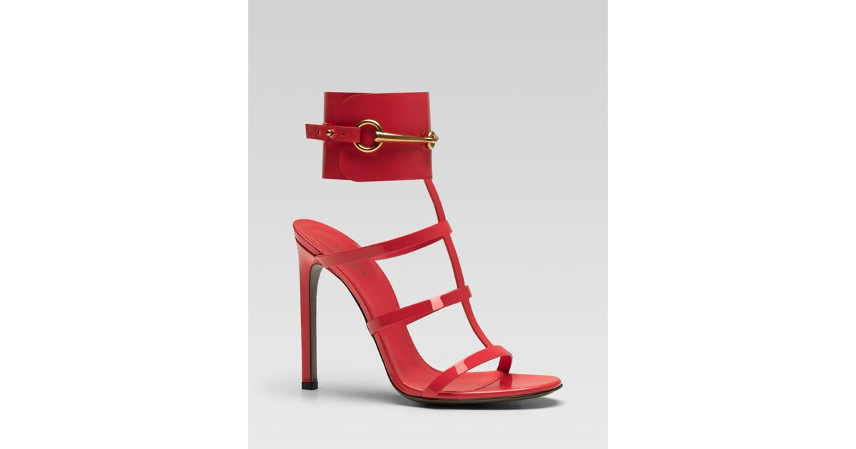 514ad0ebb Gucci Ursula Cage High Heel Sandal in Red - Lyst