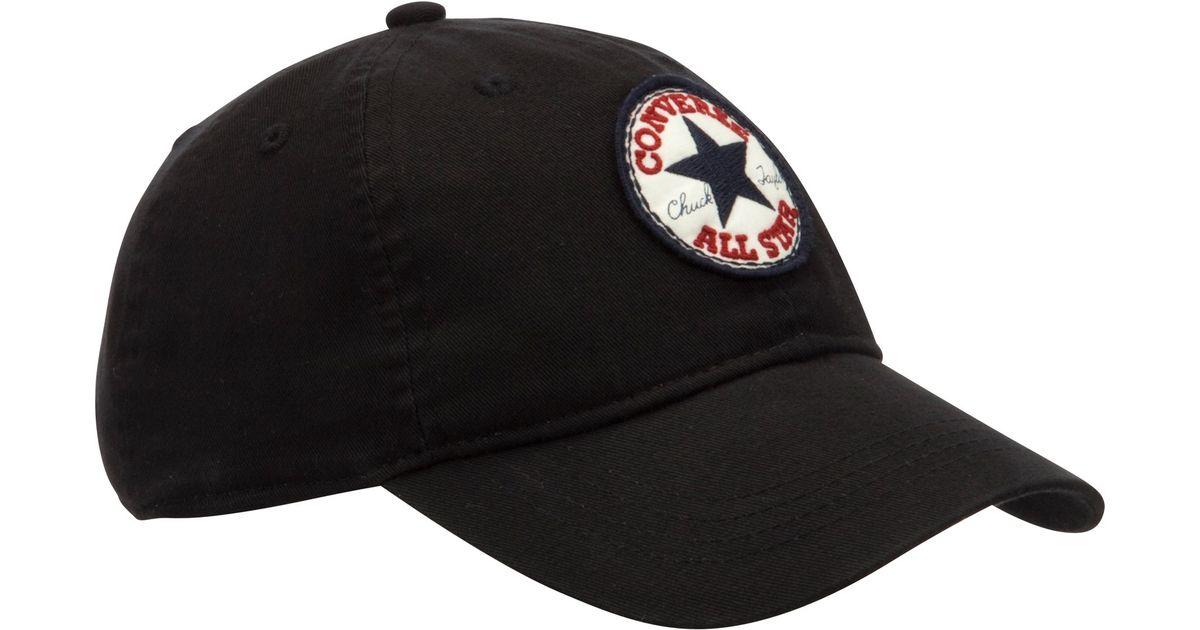 Converse All Star Cap in Black - Lyst ac0b3fef180