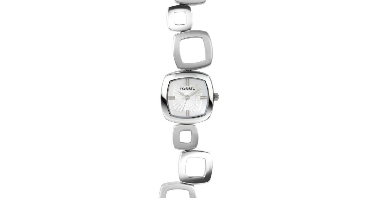 Fossil Metallic Square Link Bracelet Watch
