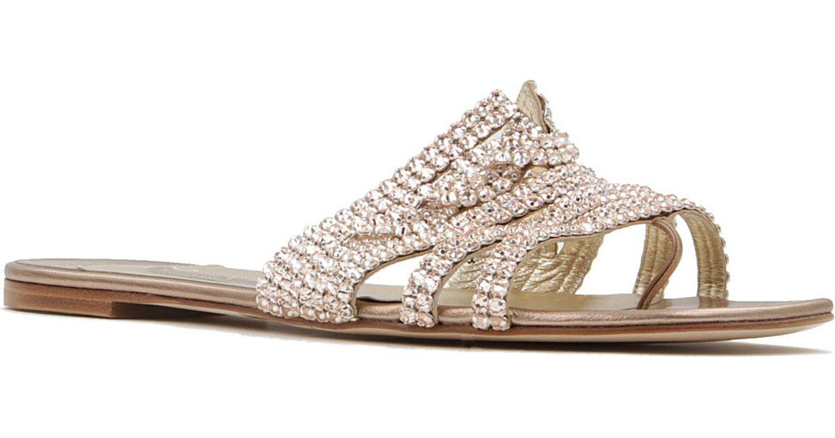 eed3a95e8 Gina Loren Sandals - For Women in Metallic - Lyst