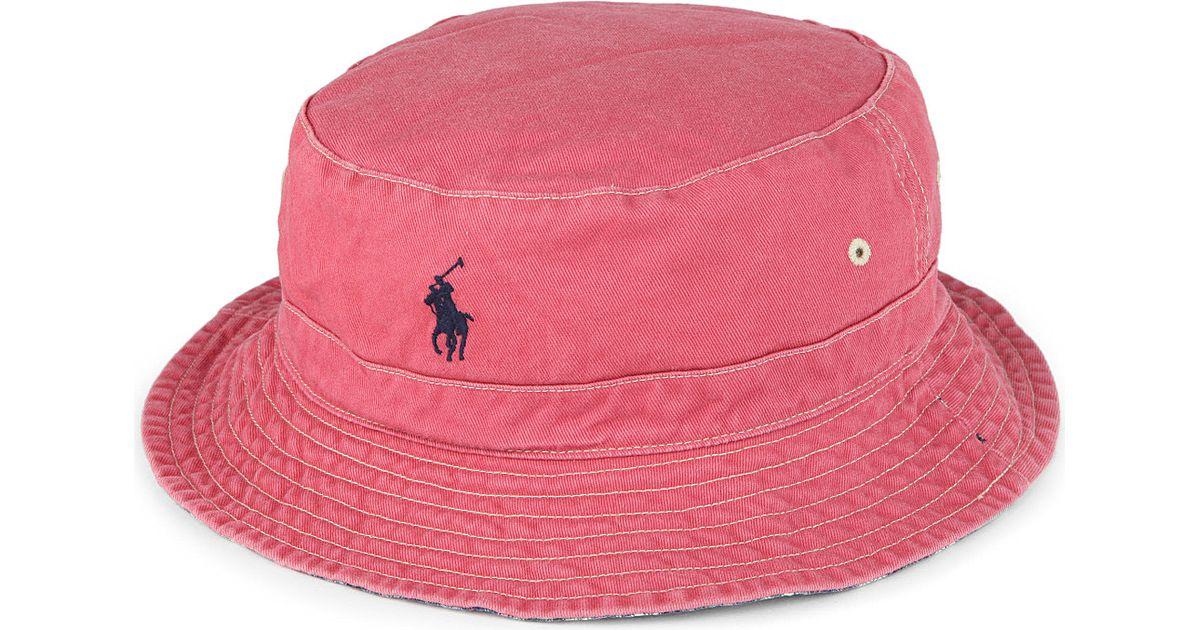 750932af Ralph Lauren Reversible Beachside Bucket Hat in Red for Men - Lyst