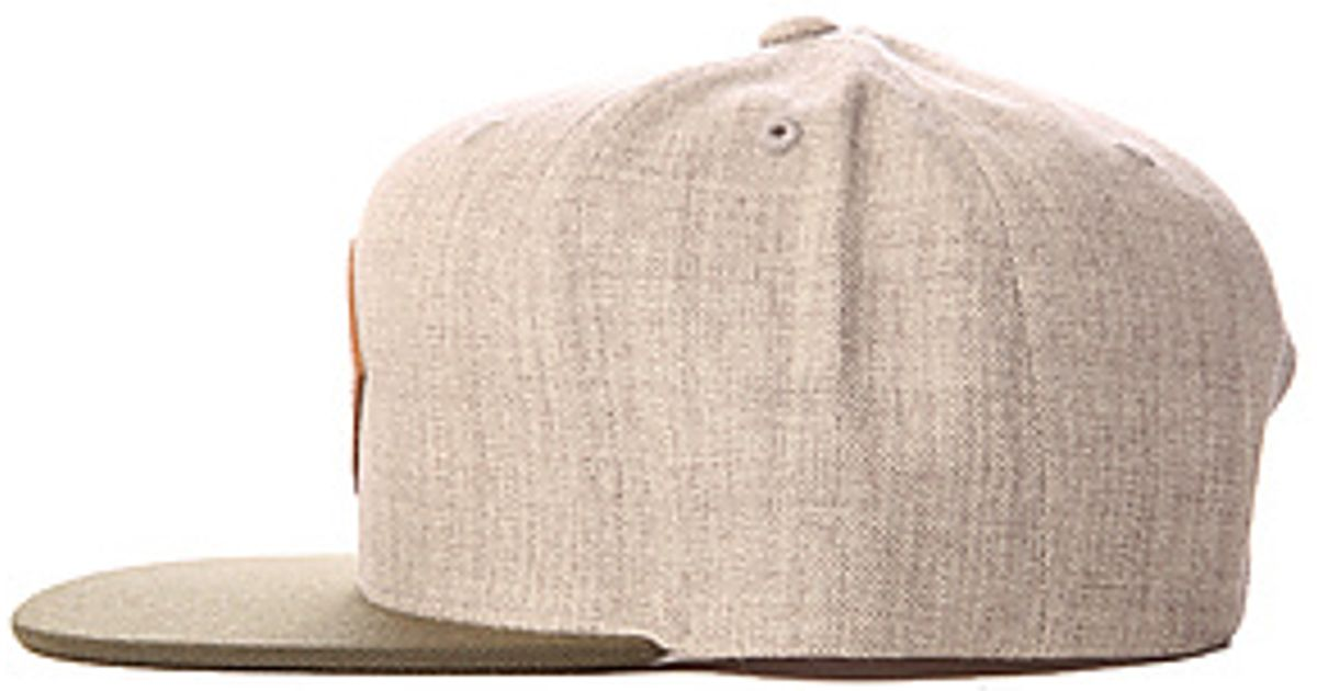 b8a3fecff33ca ... get lyst rvca the delux hat in heather grey in natural for men d3b19  575b3