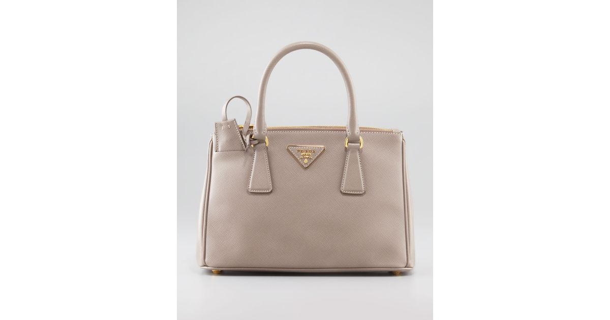 a136fe3ea8 ... authentic low price lyst prada mini saffiano lux tote bag in pink 31222  5c566 6c49a 21b97 ...