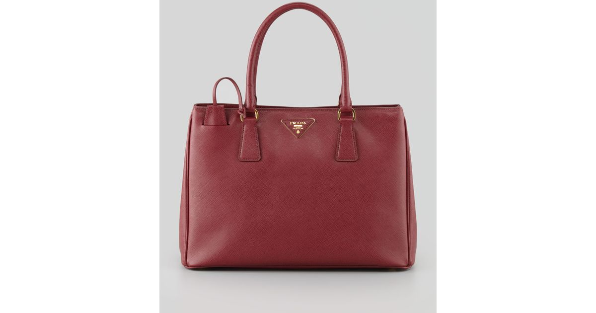 1b2783573812 Prada Saffiano Gardeners Tote Bag in Purple - Lyst