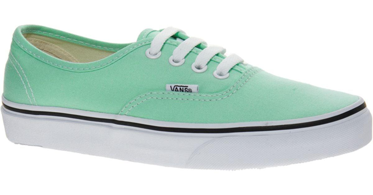Vans Authentic Classic Mint Sneakers in
