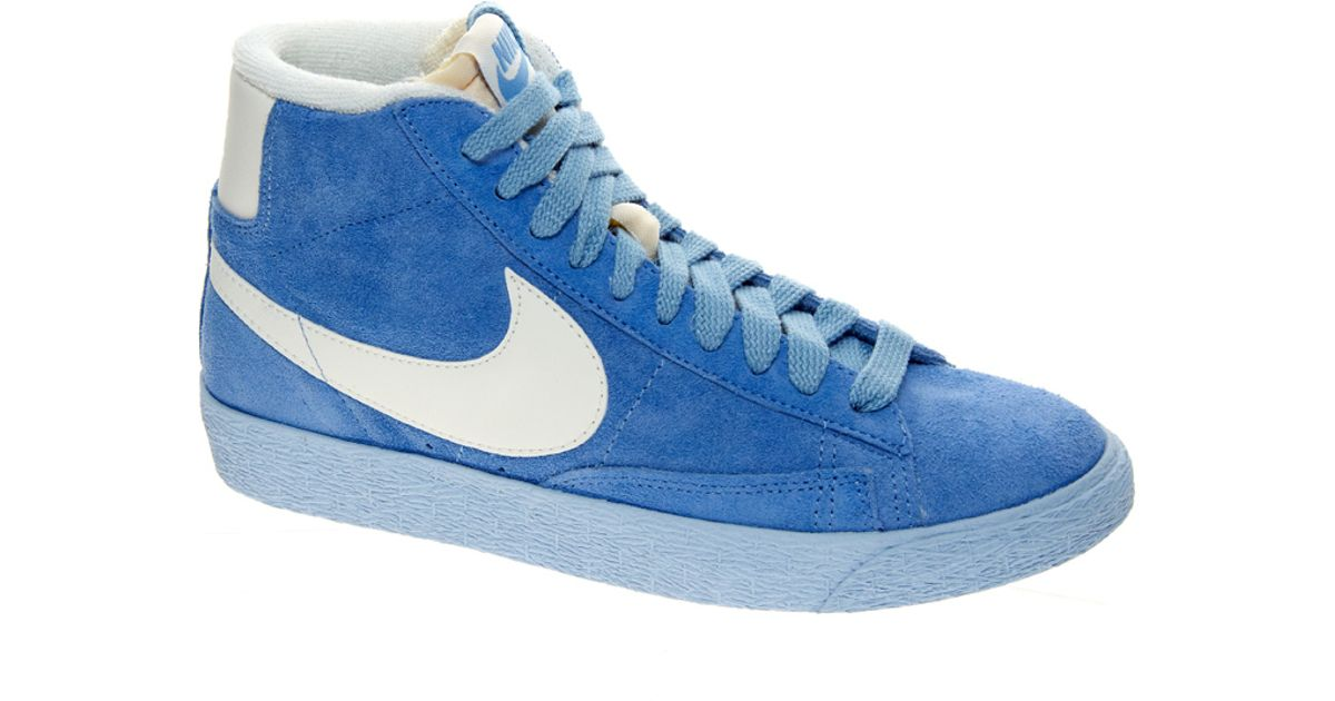 official photos 02e63 607c3 ... best price lyst nike blazer mid blue suede high top trainers in blue  for men 9ee81