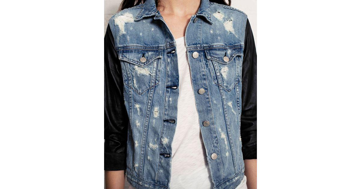 a0673a3c0e6 Rag & Bone The Jean Jacket Tattered in Blue - Lyst