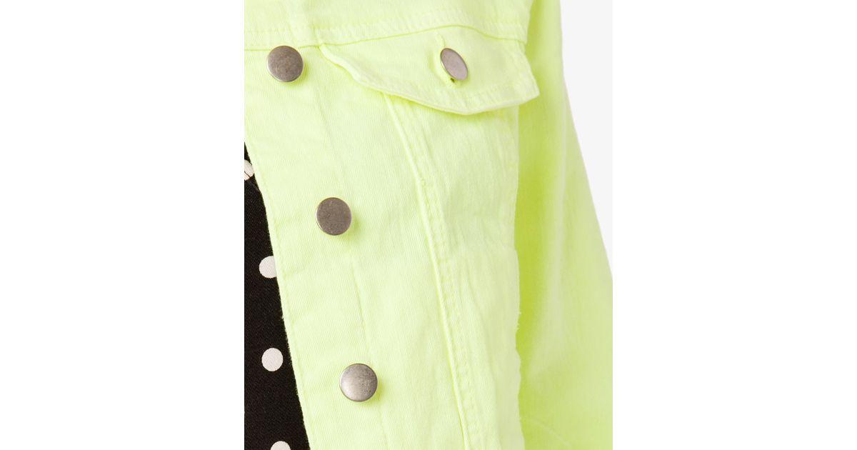 62b4bf9aec Forever 21 Yellow Neon Denim Jacket