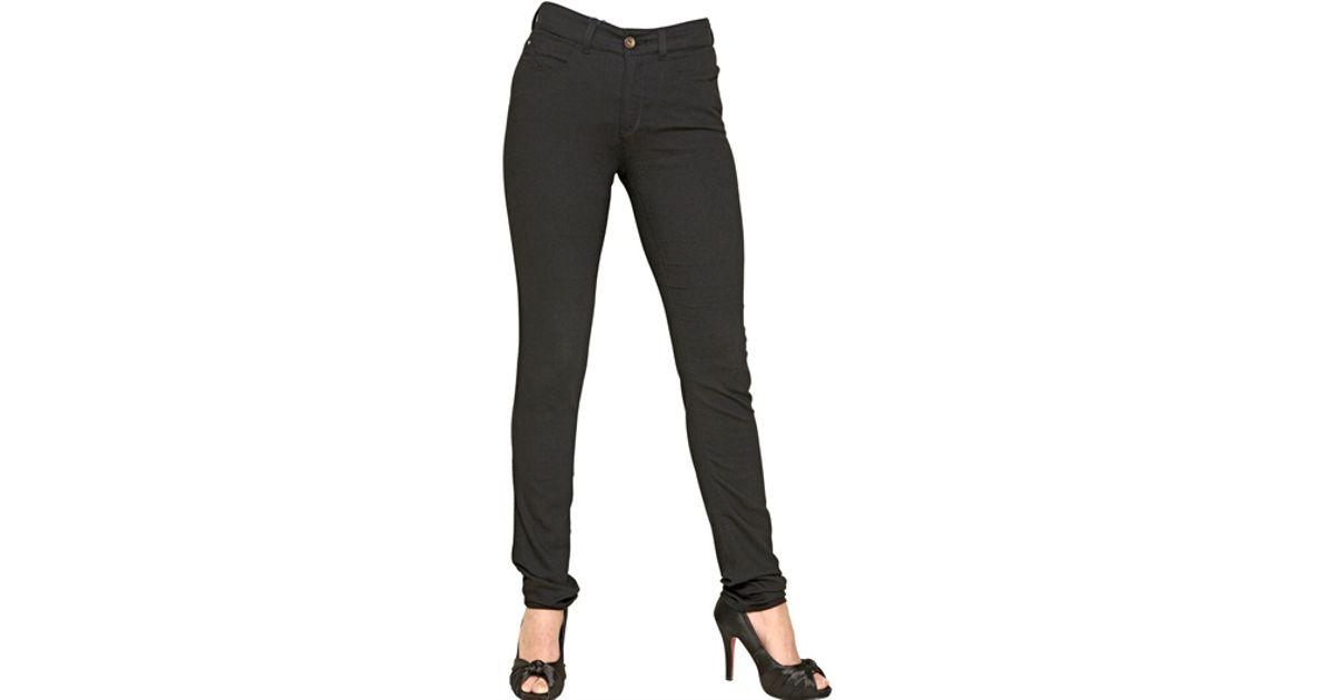 44fb138973 Armani Jeans Black High Rise Stretch Cotton Denim Jeggings